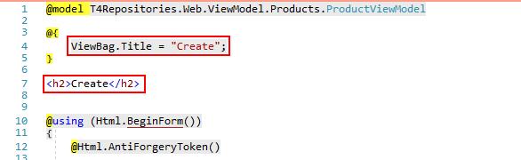 default create view