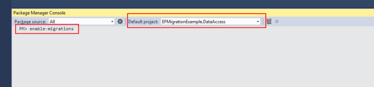 entity framework enable migrations