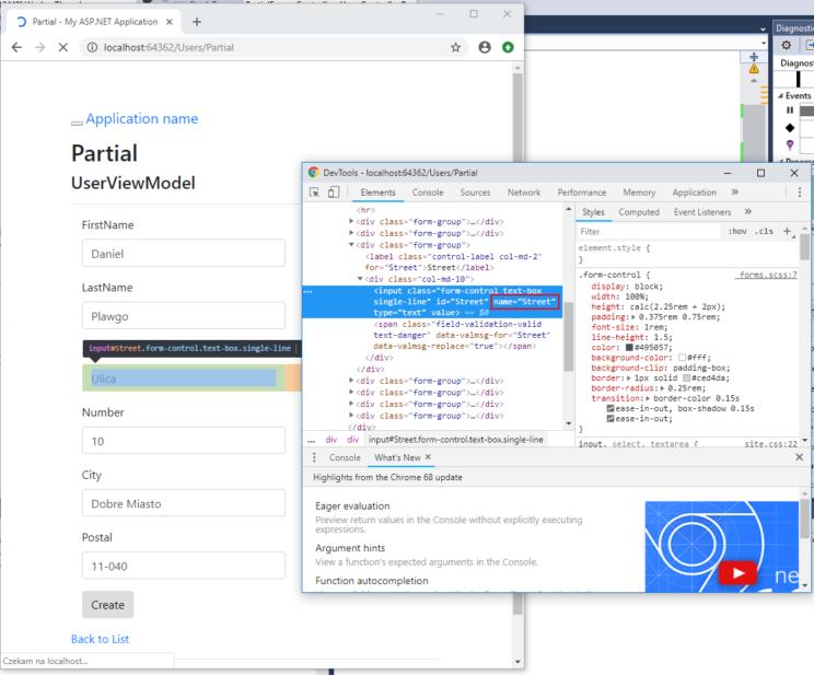 partial form html