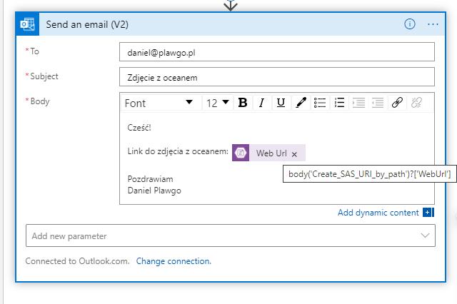 Ustawienie wysyłki wiadomości email.